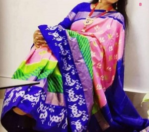 Latest Ikat Saree