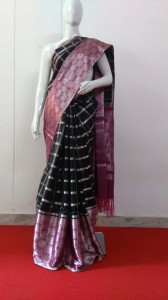 Latest Gadwal Pure Silk Saree Black Color
