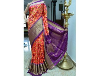 Pochampally Patola Design Ikkat Silk Saree