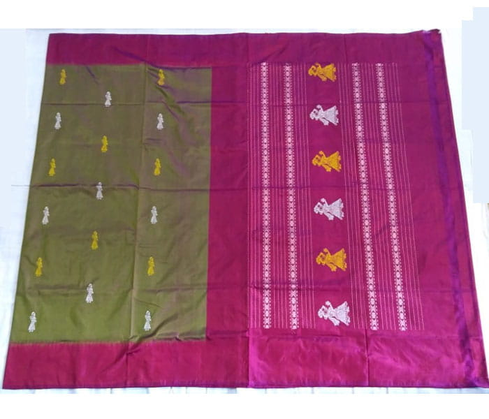 Beautiful Gollabhama Silk Handloom Saree