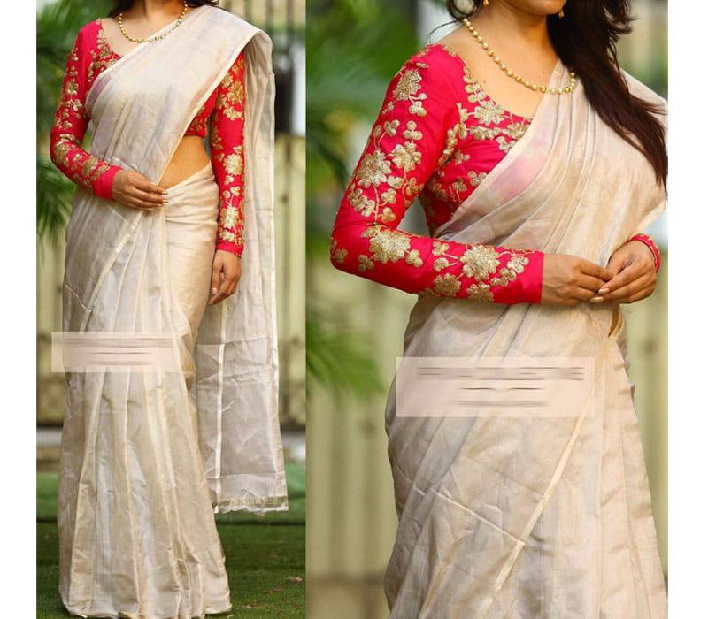 6326d8f740f Tissue Saree Online Shopping