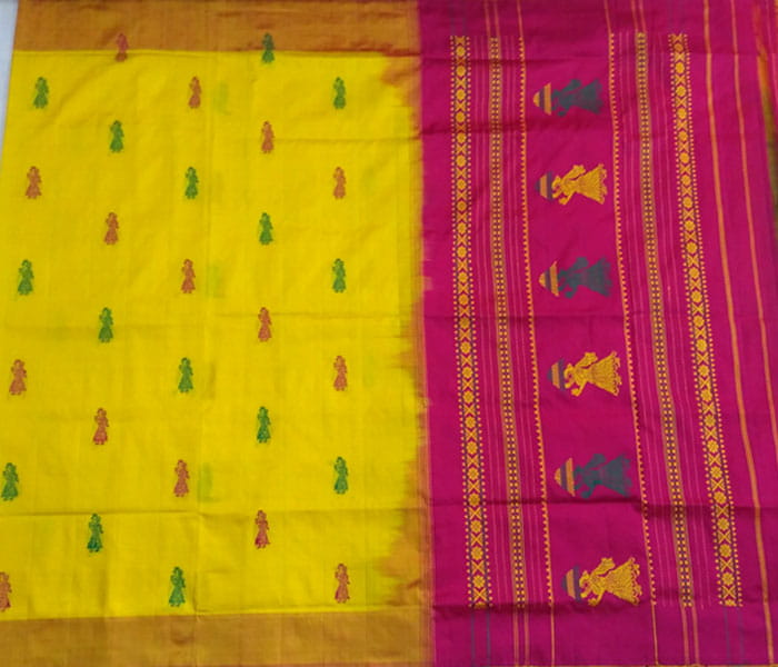 Pure Gollabhama Silk Handloom Saree