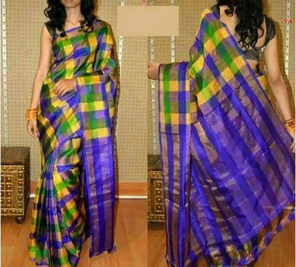 Checks Model Tissue Uppada Saree