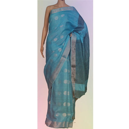 Lenin Saree Sea Blue Color