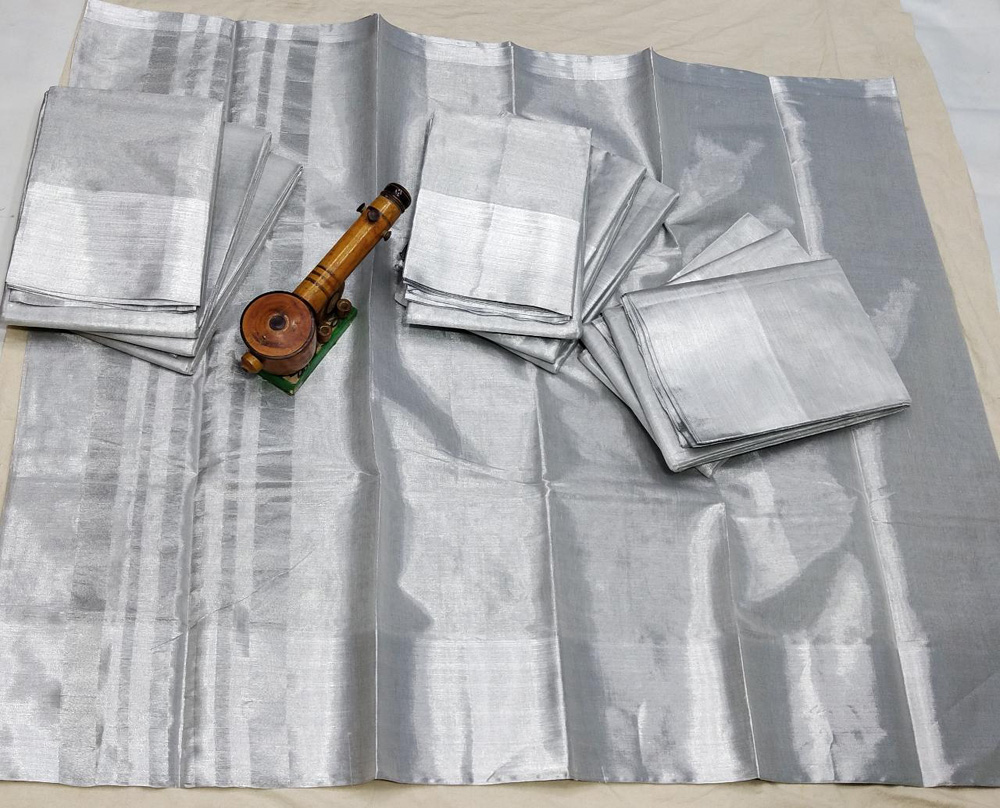 Pure Silver Tissue by Cotton Saree