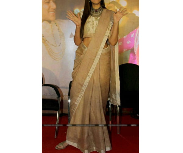 Lenin Wheat Color Saree