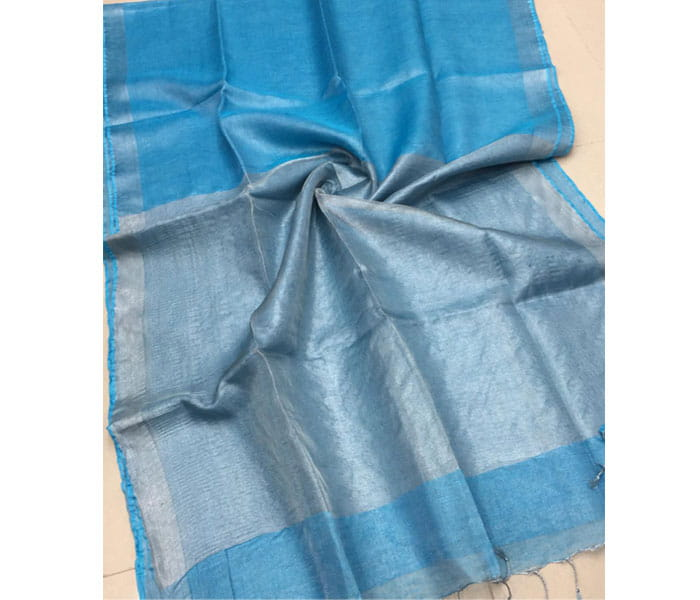 Lenin Tissue Saree Light Blue Shade