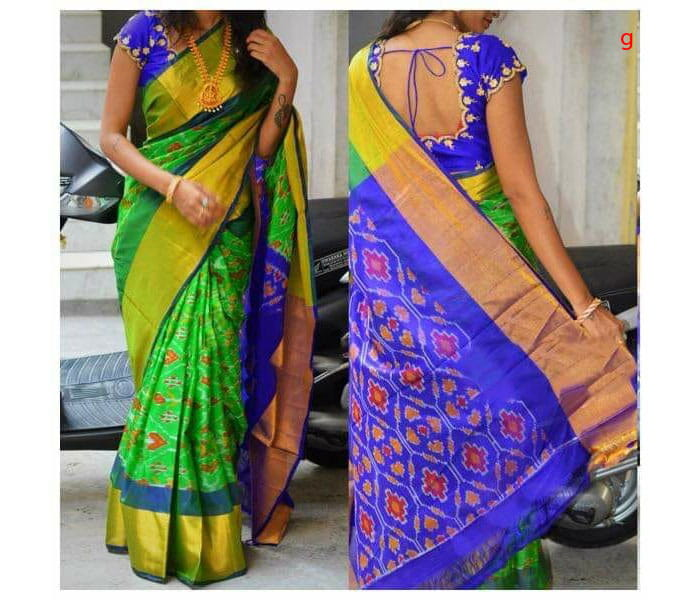 Green Uppada Pure Silk Pochampally Saree