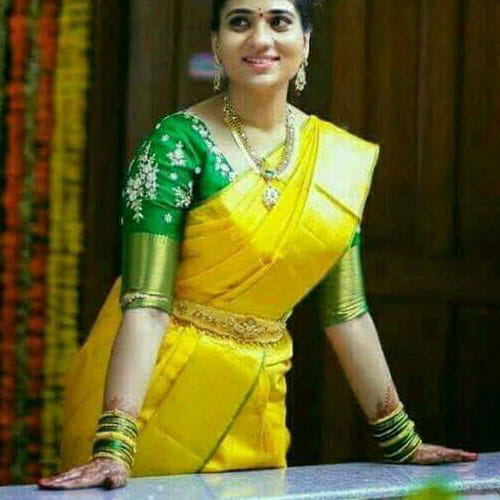 Uppada Tissue Saree Yellow Color