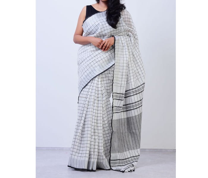 Lenin By Lenin New Chekcs Design Saree